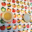 Matricaív - fémesen csillogó almák - 80 db/ív - Apple stickers sheet