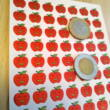 Matricaív - nevető piros almák - Reward stickers laughing apples - 63 pcs per sheet