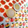 Almák matricakészlet több változatban - piros pont alsós tanítóknak - apple sticker sheets