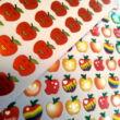 Nevető piros almák - matricakészlet - piros pont alsós tanítóknak - apple sticker sheets