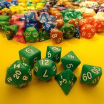 Kockakészlet lapszámozva, 7 db-os, zöld - sok egyéb színben!