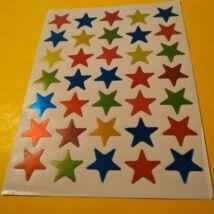Matricakészlet - csillagok, 15 mm (további öt méretben kapható!), 35 db/ív