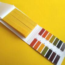 pH-indikátor (1-14) tesztcsík, 80 db-os lakmuszpapír