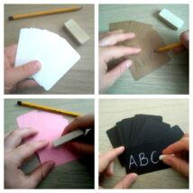 Üres, íróeszközzel testreszabható papírkártya, 10 db-os csomag, több színben - fehér