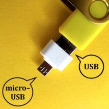 USB > micro–USB átalakító adapter, pl. pendrive, USB-s billentyűzet vagy egér mobilhoz csatlakoztatásához - fehér