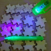 """UV-tintás filctoll lámpával - """"láthatatlan"""" titkosíráshoz, feladatötlet-adó videóval!"""