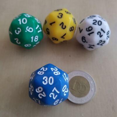 """Harmincoldalú """"kocka"""" 1-30-ig lapszámozva, kék - egyéb színekben is! (1 db)"""