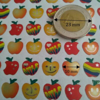 Matrica - pici almák fémesen csillogó, 10 mm, 80 db / ív