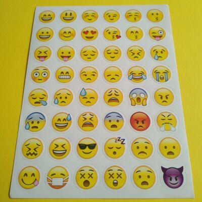 Matricakészlet - érzelmek, hangulatok - 15 mm, 48 db/ív