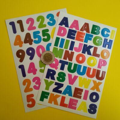 Matricakészlet, vegyes színű betűk 14 mm (számokat ábrázoló is kapható)