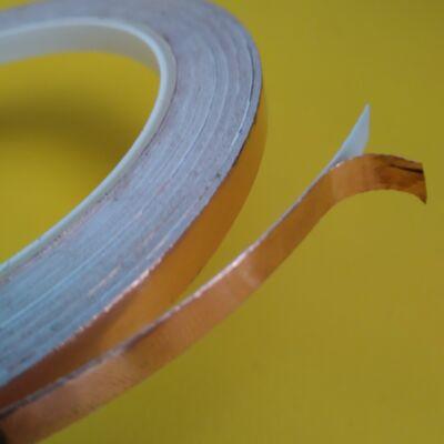 Rézszalag, öntapadós, 6 mm széles, áramkör építéséhez (forrasztható - meztelencsigák ellen is véd)
