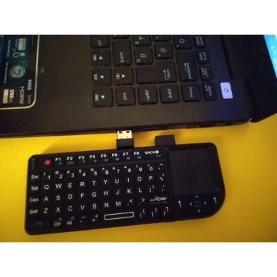 Vezeték nélküli, akkus minibillentyűzet egérpaddal, lézerrel - irányítsd távolról a tantermi gépet!