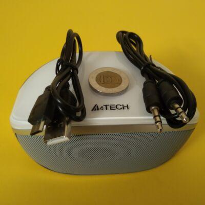 A4 Tech BTS-05 Bluetooth hangfal (2 x 3W), fehér-ezüst - ha unod a magnót cipelni...