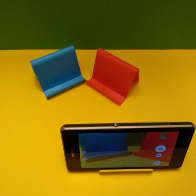 Telefontartó miniállvány talpazat - kék (több színben, bleutooth elsütő is kapható hozzá)