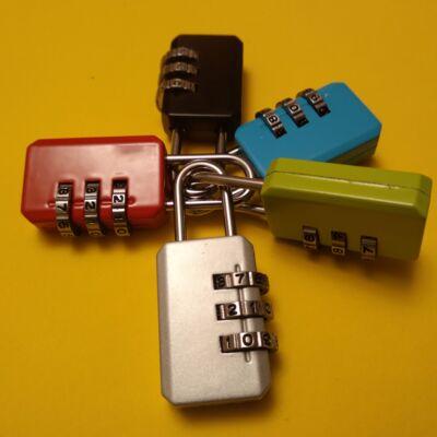 Számzáras háromszámjegyű lakat állítható nyitókóddal – Szabadulószoba és rejtvények készítéséhez – Börőnd és csomag lezárázáshoz utazás során