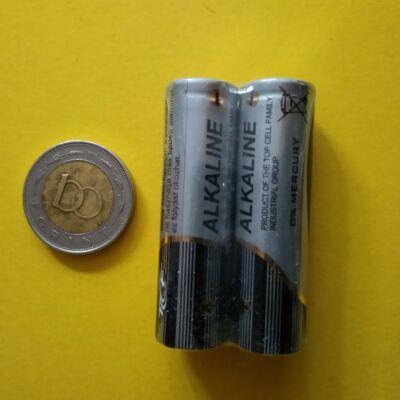 Rúdelem, tartós alkáli  AA 1.5V (ceruza) - AAA (mikro) is kapható, 2 db
