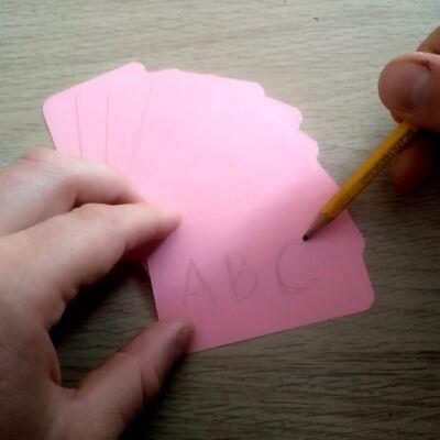 Írható és letörölhető rózsaszín szókátyák – Drámapedagógia játékokhoz – Páros munkához