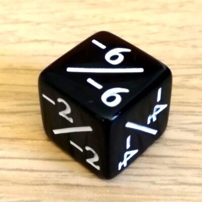 Plusz-mínusz kocka – számolás – alapműveletek – összeadás – kivonás – pozitív és negatív számok tanításához – fekete, negatív
