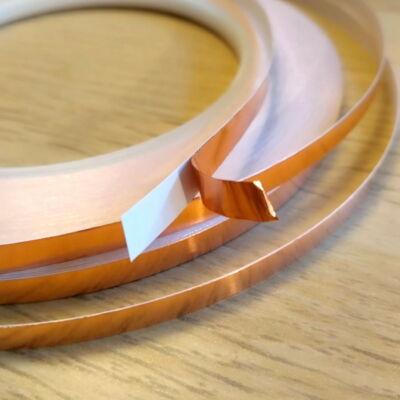 Szigetelő rézszalag (öntapadós) - Árnyékoláshoz és áramkörépítéshez - Self-adhesive copper tape