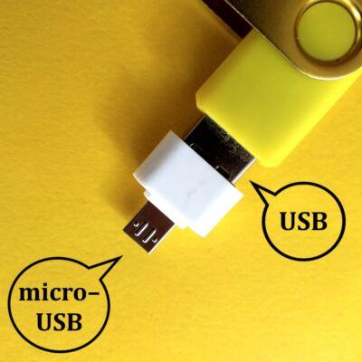 Pendrive telefonba – Átalakító USB male to micro–USB female adapter black – Plug pendrive into smart device – fehér