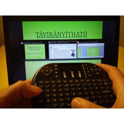Digitális tanítás vagy távoktatás során elszakadhatsz az asztali géptől – Vezeték nélküli minibillentyűzet egérpaddal elemes