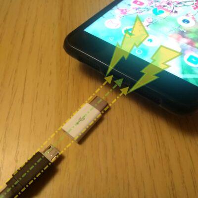 Töltsd az USB-C-s telefonod micro-USB kábellel! – Csatlakozófej átalakító adapter micro-USB bemenet type-C kimenet – Charge cable plug converter micro-USB female type-C male – fehér