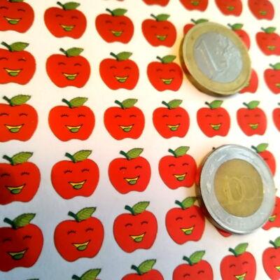Matricaív - almák vegyes és piros színben - piros pont alsós tanítóknak - apple sticker sheets