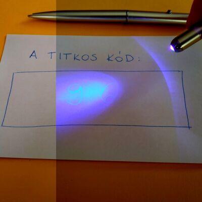 """UV-tintás toll lámpával - """"láthatatlan"""" titkosíráshoz, feladatötlet-adó videóval!"""