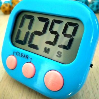 Jól látható kijelzős időzítő – visszaszámláló stopper – időkeret méréséhez órán és vizsgán – mágnessel és tartótalppal – kék